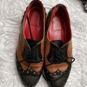 Jeffrey Campbell Brown & Black Women's shoes 7M